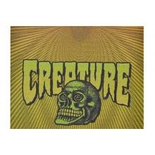 MOB Creature Psych Skateboard Griptape orange/yellow 9Zoll Bild 1