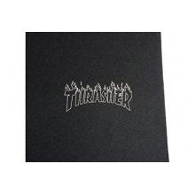 MOB Skateboard Griptape Thrasher Flame Logo Laser Cut 9Zoll Bild 1