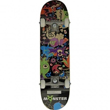 Monster Party komplettes Skateboard Bild 1