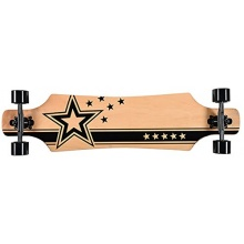 Sell-tex Skateboard Racing Star black 102 cm ABEC-7 Bild 1