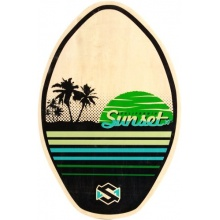 Skim One skimboard Sunset Holz grün grün 77cm Bild 1