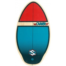 Skim One skimboard The Carver Holz blau / rot 90 cm Bild 1