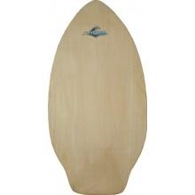 Surf Quest Oldschool Skimboard 108 cm mit Kicktail Raw Wood Bild 1