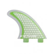 FCS Surfboard Finne PC-2 Green/Clear Tri Fin Set Bild 1