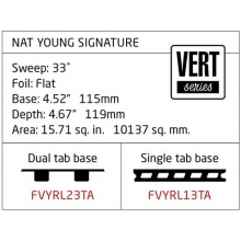 CREATURES OF LEISURE Surfboard Finne Nat Young Dual Tab L Bild 1