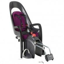 Hamax Fahrrad Kindersitz Caress grau schwarz lila  Bild 1