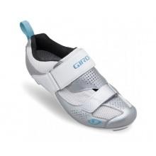 Giro Flynt Tri Damen Radschuhe weiß silber blau Bild 1