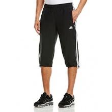 adidas Herren Laufhose 3 Stripes 3/4 schwarz weiß XL Bild 1