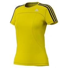 Adidas Damen Response Laufshirt Gelb Schwarz Bild 1