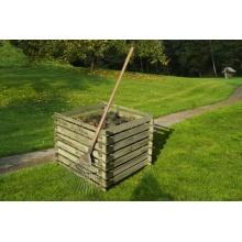Holzkomposter 90 x 90 cm mit Holz-Stecksystem Bild 1