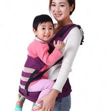 HappyCherry Babybauchtrage Komfort Sitzfläche Violett Bild 1