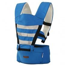 HappyCherry Babybauchtrage Komfort Sitzfläche Blau Bild 1