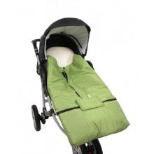 Hobea Fußsack für Kinderwage Biobaumwolle Grün  Bild 1
