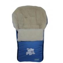 Womar Fußsack für Kinderwagen Lammwolle Blau Bild 1