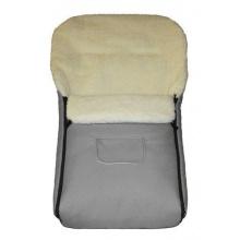 Baby-Joy Fußsack für Kinderwagen Lammfell Grau Bild 1