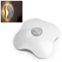 Oneu Kleeblatt Nachtlicht Bewegungsmelder LED Warmweiß Bild 1