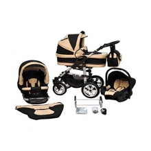 Zagma Kombikinderwagen Premium 3in1 schwarz beige Bild 1