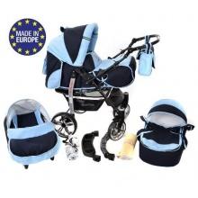 Baby Sportive Kombikinderwagen Set Marineblau Blau Bild 1