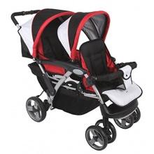 Haberkorn Zwillingskinderwagen schwarz rot Bild 1