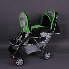 BambinoWorld Zwillingskinderwagen Grün Top Design  Bild 1