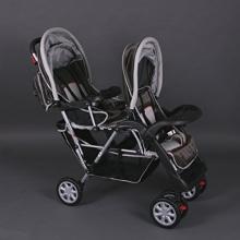 BambinoWorld Zwillingskinderwagen braun Bild 1