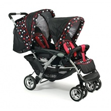 Chic 4 Baby Zwillingskinderwagen Duo schwarz dots  Bild 1