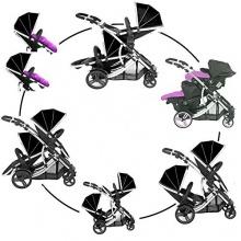 Kidz Kargo Zwillingskinderwagen schwarz  Bild 1
