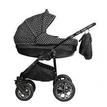 Magico Mundo 3in1 Alu Luxus Kinderwagen schwarz punkte Bild 1