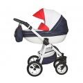 Magico Mundo Luxus Kinderwagen Moretti blau weiß rot Bild 1