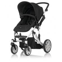 Britax Kinderwagen schwarz silbernes Chassis Bild 1