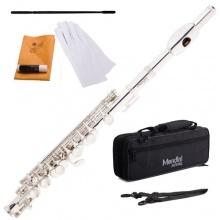 Mendini MPO S Versilbert C Ton Piccoloflöten mit Koffer Bild 1