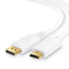 CSL DisplayPort DisplayPort zu HDMI Kabel 1m weiß Bild 1