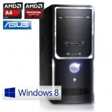 CSL Office PC Win 8.1 AMD 2x 3400MHz 4GB RAM 500GB HDD Bild 1