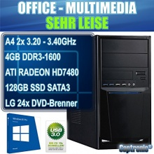 Captronic Office PC 2x 3,20GHz 128GB SSD 4GB RAM Bild 1