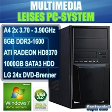 Captronic Office PC 1TB HDD 2x 3,70GHz 8GB RAM D Bild 1