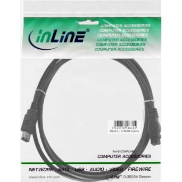 InLine FireWire Kabel 6pol/9pol Stecker Stecker 1m Bild 1