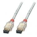 LINDY Firewire-Kabel 6 Pol-Stecker an 6 Pol-Stecker 3m Bild 1