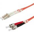ROLINE LWL-Kabel Glasfaser Kabel LC/ST 5m orange Bild 1