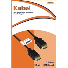 mumbi HDMI Kabel 1,5m vergoldet doppelte Abschirmung Bild 1