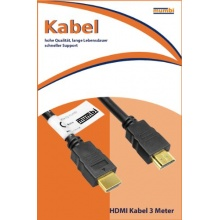 mumbi HDMI Kabel vergoldet doppelte Abschirmung 3m Bild 1