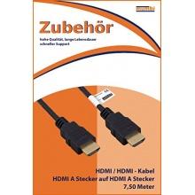 mumbi HDMI Kabel Full HD vergoldete Kontakte 7,50m Bild 1