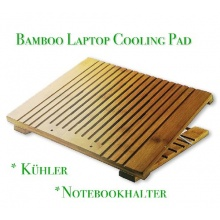 Bambus Laptop Cooling Pad, Notebookhalter Bild 1