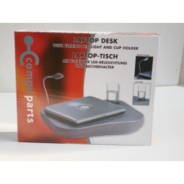Laptop / Notebook Tisch mit Lampe 48x8x38cm Grau Bild 1