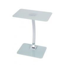 LEVV LASWCH Quadratischer Laptopständer aus Glas weiß Bild 1