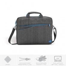 deleyCON Notebooktasche bis 39,5cm grau blau Bild 1