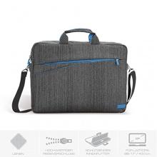 deleyCON Notebooktasche bis 43,2cm  grau blau Bild 1