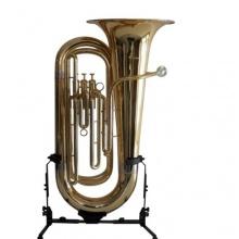 B Tuba goldmessing 3 ventilig mit Koffer Bild 1
