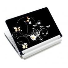 wortek® Universal Notebook Skin  Blumen Schwarz Gelb Bild 1