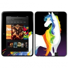 Diabloskinz Vinyl-Skin Kindle Fire Rainbow and Stars Bild 1
