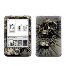 Tolino Shine Skin Ebook Reader Vinyl skull Wrap Bild 1